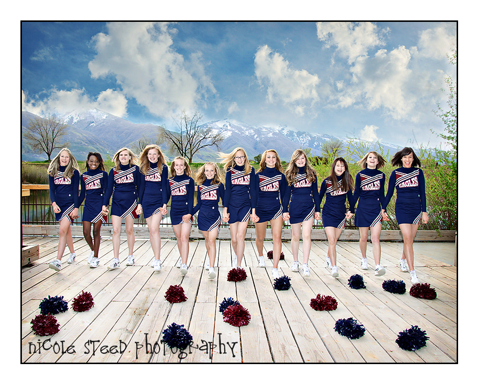 Cheerleader Group Portraits Utah Portrait Photographer
